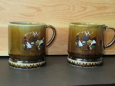 Two Wade Irish Porcelain Children Mugs