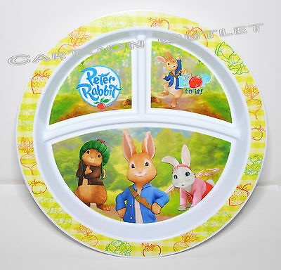 Peter Rabbit 3 Section Divided Nuk Plate Bpa Free Tray Nickelodeon New Kids Fun