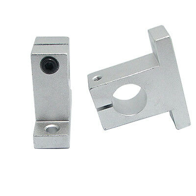 2PCS CNC Aluminum Alloy Bearing SK8 8mm, Linear Rail Shaft Guide Support