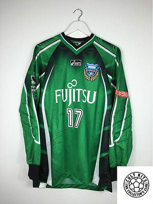 KAWASAKI FRONTALE #17 *MATCH ISSUED + SIGNED* GK Football Shirt (XL) J-League
