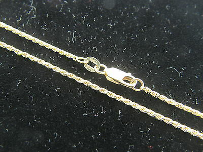Solid 10k YELLOW GOLD ROPE CHAIN NECKLACE REAL 10KT GOLD CHAIN D/C ROPE ITALY