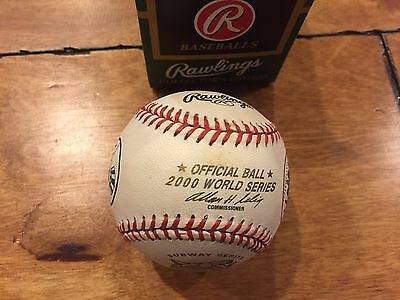 2000 WORLD SERIES Selig Rawling's Official BASEBALL NW IN BOX SUBWAY SERIES Logo
