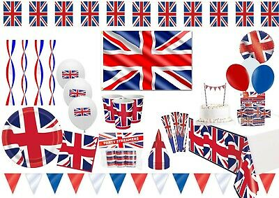 British Royal Wedding Union Jack Partyware Decorations Balloons Red White Blue