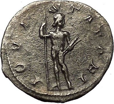Gordian III 241AD Silver Authentic  Ancient Roman Coin Zeus Jupiter Cult i54266