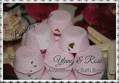 YLANG & ROSE Aromatherapy Bath Bombs with Coconut Oil PACK OF 50