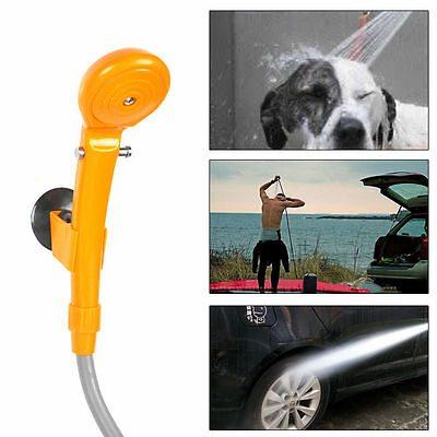 DC 12V Outdoor Potable Camping Powered Handheld Car Plug Shower Vehicle Wash Kit