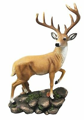 Large 10 Point Emperor Deer Buck Figurine Great Gift For Hunters Cabin Lodge