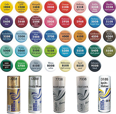 (2,19€/100ml) AERO Design Colorspray seidenmatt 150ml Dose Farbspray Lackspray