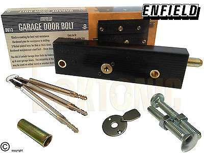 Enfield Garage Door Bolts Locks  D613 R//H Or L//H Singles With Long Key