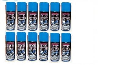 New 12 X Easy Grease Spray Can Cycle Motorbike Car Oil Synthetic Lubricant 200ml