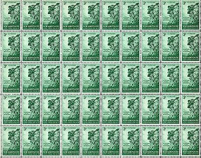 NEW HAMPSHIRE - STONE FACE - (1955) #1068 Mint -MNH- Sheet of 50 Postage Stamps
