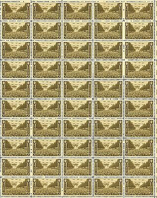 U.S. ARMY (1945) – Full Mint Never Hinged Sheet of 50 Vintage Postage Stamps