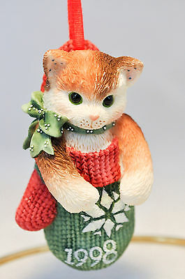 Calico Kittens: Kitten in Mitten - 359645 - 1998 Holiday Ornament