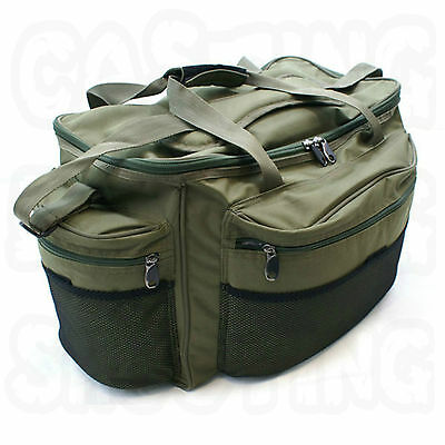 Ngt 093 Large Green Carp Coarse Fishing Tackle Box Carryall Bag Waterproof New