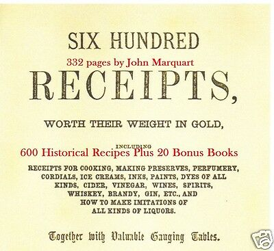 CD - 600 Historic Recipes for Everything - 21 eBooks (Resell Rights)