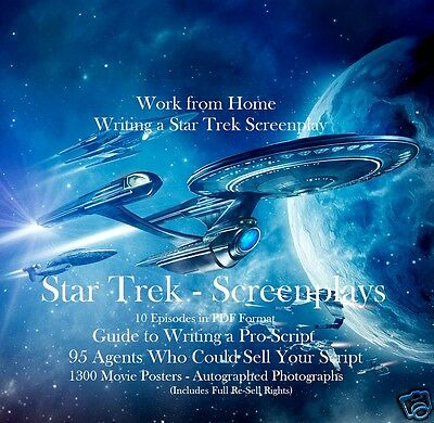 CD - Write a Script - Star Trek - 13 eBooks (Resell Rights)