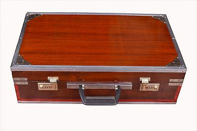 Indian Handmade Sangwan Wood Kolkata Harmonium 3.5 Octave 9 Stops  Dark Brown