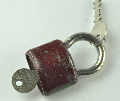 Vtg Rare Original Large Tokoz-6 50 Padlock With Key