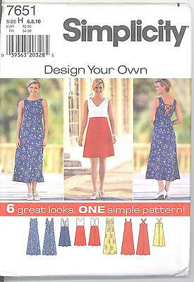 Simplicity 7651 Misses' Dress  6, 8, 10   Sewing Pattern