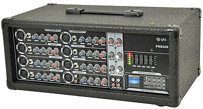 PH8200 Powered Mixer Amplifier [178.736UK] disco karaoke band install amp