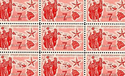 HAWAII STATEHOOD (1959)- #C55 Full Mint NH Sheet of 50 Vintage Airmail Stamps