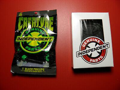 "Creature 1"" Phillips Skate Hardware + Independent Skateboard 1/8"" Riser Pa"