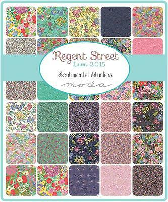 "Moda Jelly Roll~Regent Street Lawn 2015~Sentimental S~ 2 1/2"" Strips~100% Cotton"