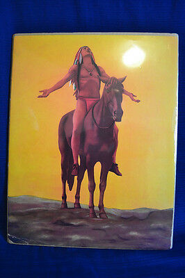 Vintage AMERICAN INDIAN PRINT On Horseback