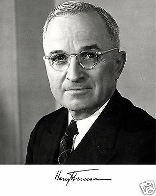 President Harry S. Truman USA Facsimile Autograph Photo Photograph Picture