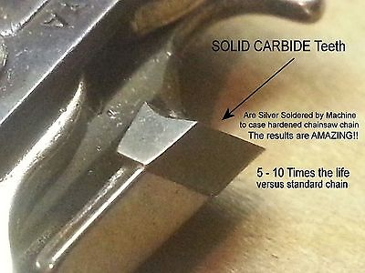 """SOLID CARBIDE Chainsaw Chain for 20"""" Husqvarna® Rancher 55 450 455 H80-072 VIDEO"""