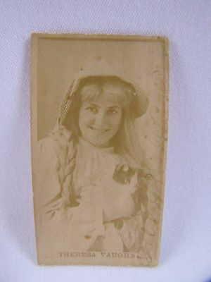 Antique Cigarette Card Sweet Caporal Cigarettes Theresa Vaughn Kinney 1800s