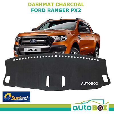 DashMat for Ford PX2 Ranger  Charcoal  Sunland Dash Mat Protection Sep2015 on