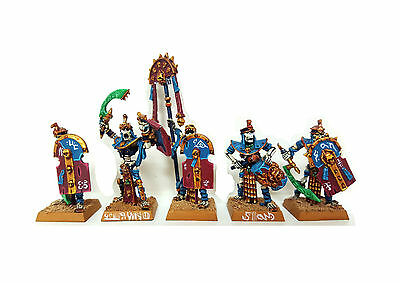 WFB OOP Undead Tomb Kings Tomb Guard w/ Command (Metal x5)