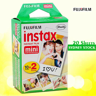Fujifilm Instax Mini Film 100 Fuji instant photos 20 Sheets 7s 8 90 Polaroid 300