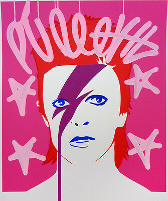 PURE EVIL - A lad insane Bowie - Hand finished 1/1 | Urban, Street art, graffiti