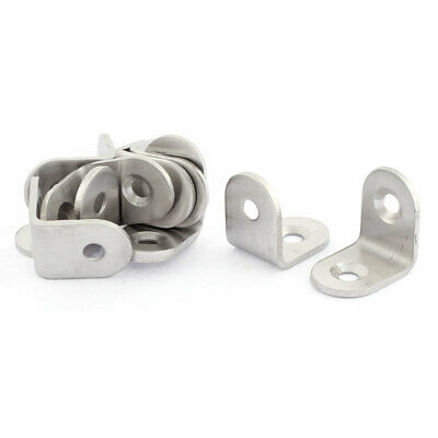 Furniture Round End Right Angle Bracket 20 x 20mm 10pcs