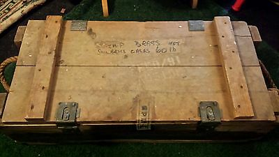 Vintage wooden ammunition case