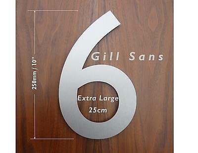 Extra Large 25cm Classic Modern Stainless Steel House Number - FREE UK DELIVERY