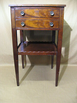 Beacon Hill Collection Mid-20th Century Mahogany & Leather Nightstand/End Table