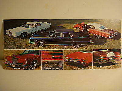 SIX 1970s EAGLE COACH LINCOLN CUSTOM CAR BROCHURES ALL SIX ARE DIFFERENT
