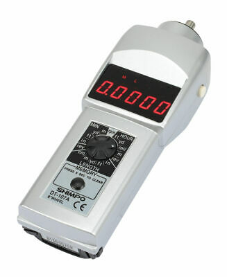 SHIMPO DT-107A Digital Contact Tachometer, LED Display & 6 Circumference Wheel
