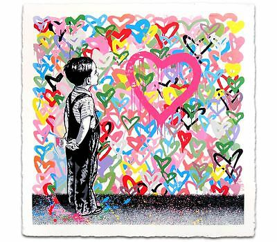 Mr. Brainwash MBW With All Of My Love Screen Print Poster Signed & Numbered /125