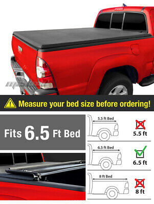 Premium Trifold Tonneau Tonno Cover For 2015-2017 F150 6.5' Standard Bed