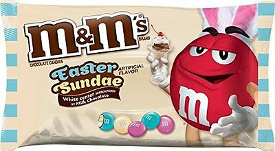 M&M's Easter Sundae White Center Milk Chocolate Candy NEW 8oz Dated BB12/16 m&ms