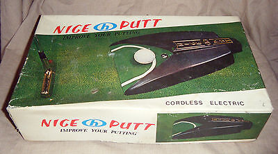 Vintage Boxed Nice Putt Golf Putting Machine