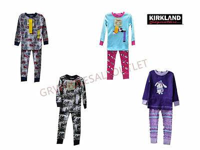 Kirkland Signature Kids Boy's Girl's 100% Organic Cotton 2pc Pajama Set !#287175