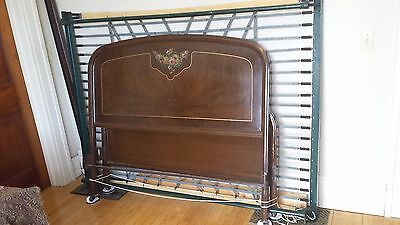 2 MATCHING VINTAGE 1900 1920 1930 ANTIQUE METAL BEDS With Springs! Simmons?