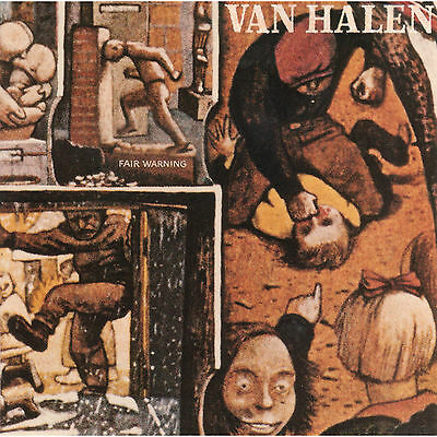 VAN HALEN - Fair Warning Album Cover Art Print Poster 12 x 12