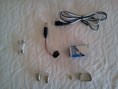 9 VOLT VINTAGE PACHINKO POWER KIT wire parts LIGHTS, SETUP INSTR - japan pinball
