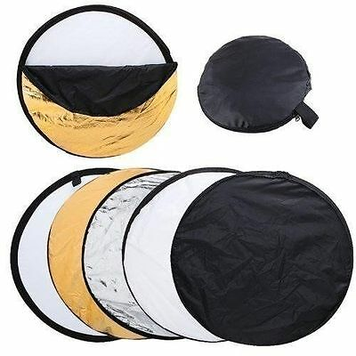 Photo Photography 80cm 5 in 1 Collapsible Multi Light Reflector Studio + Case